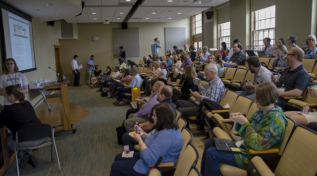 Welcome & scheduling session. Photo by Susan Sharpless Smith, also available on Flickr.